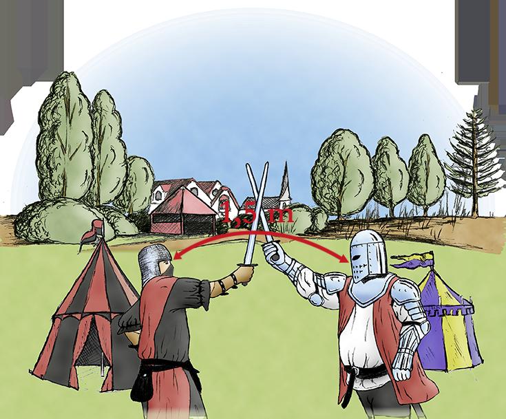 Auch Ritter halten Abstand